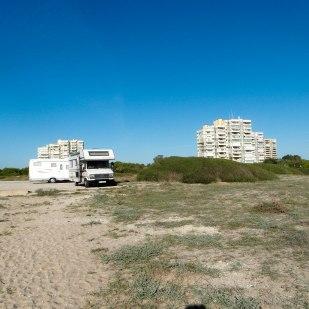 Stellplatz am Mittelmeer kurz vor Valencia